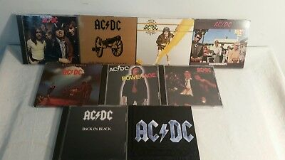 Lot AC/DC CD collection rock n roll heavy metal 1970s/80s