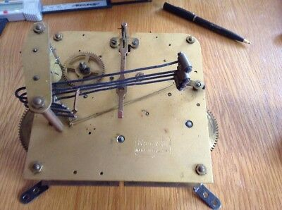 Original Vintage NORLAND Westminster Mantel Clock Movement Working (E)