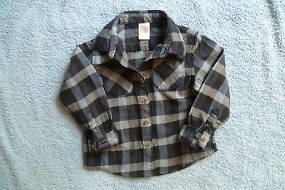 Baby clothes BOY 12-18m ZARA blues/navy check shirt thick, long sleeve SEE SHOP!