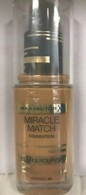 Max Factor Miracle Match Foundation Blur & Nourish 30ml /Caramel 85 / Sealed