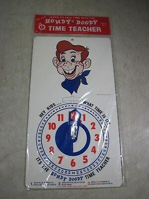 Vintage 1970's National Broadcasting Howdy Doody Time Teacher Clock NOS