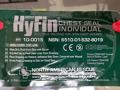 Hyfin Vent Individual Chest Seal EXP 06/2021 6510-01-532-8019