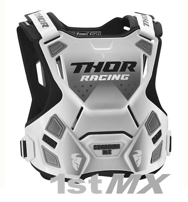 Thor Guardian MX Race Motocross Chest Roost Protector Body Armour White Youth