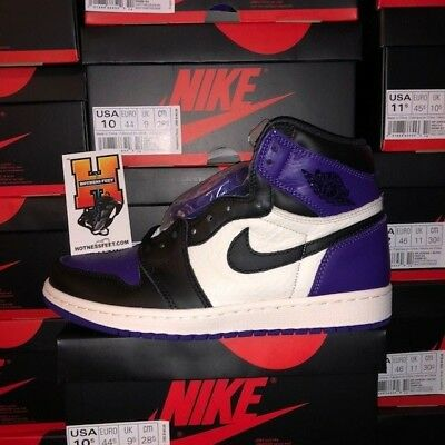 b07134e41534b 2018 DS AIR Jordan Retro 1 High Court Purple 555088-501 GS   MEN Sz ...