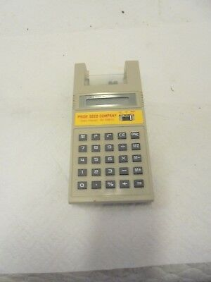 vintage calculator with paper tape pride seed glen haven wisconsin hybrid corn