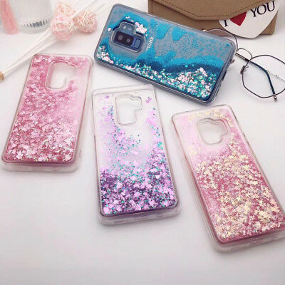 Liquid Glitter Silicone Case Cover For Samsung Galaxy Note 8 S9 S8 Plus S7 Edge