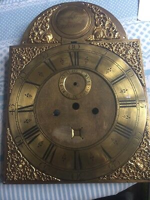 Longcase Brass Dial By Francis Perigal London 12In X 16.1/4In With Strike Silent