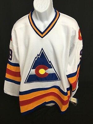 NHL Colorado Rockies Lanny McDonald #9 CCM Hockey Jersey Sewn Size 50 / L