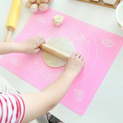 Kitchen Baking Cooking Tool Silicone Rolling Cut Mat Fondant Pastry Roll Mat FC