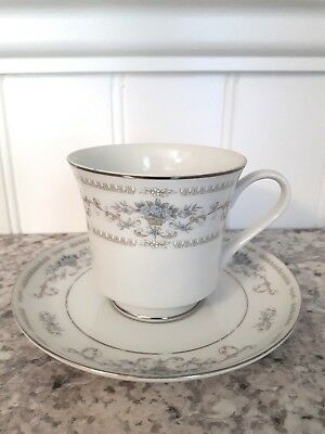 """Tea Cup & Saucer  """"Diane"""" by FINE CHINA OF JAPAN"""