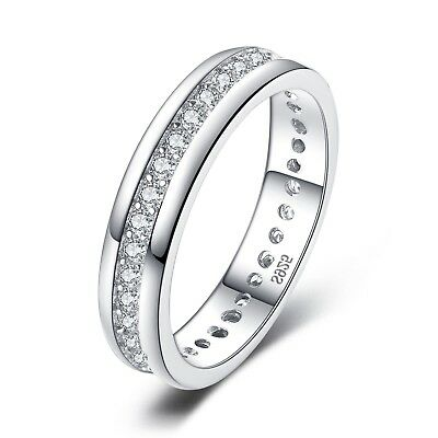 JewelryPalace Cubic Zirconia Anniversary Channel Set Wedding Band Eternity Ring