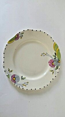 S Hancock and Sons Corona Ware plate.springtime By Edith Gater