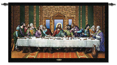 "The Last Supper High-Quality Woven Wall Tapestry - U.S. Made - 34""H x 54""W"