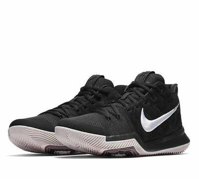 NEW NIKE KYRIE 3 MEN'S BASKETBALL SHOES BLACK WHITE SILT RED 852395 010 Size 11