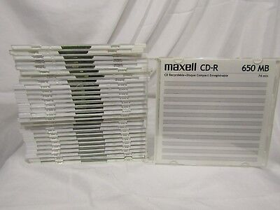 **LOT OF 28** MAXELL CD-R74 650MB 74 Min. CD Recordable *SLIM CASES*