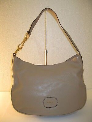 DKNY RANDALL BEIGE Buff Leather Hobo Shoulder Bag  298 -  74.09 ... 53e365578c3fb