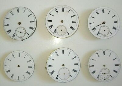 Lot of 6 Antique Pocket Watch Movements For Spares or Repair inc Fournier Geneve