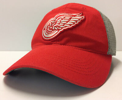 6d88fad90a8 Detroit Red Wings Adidas Snapback Hat NHL Vintage Hockey Dad Cap Mesh Back