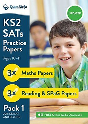 2018 KS2 SATs Practice Papers - Pack 1 English by Exam Ninja New Paperback Book