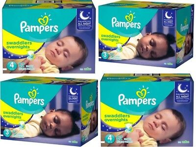 Pampers Swaddlers Overnights Baby Diapers Size 3, 4, 5, 6 NO TAX!!! CHEAP!!!