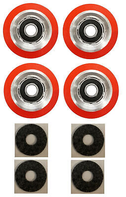4 x SUPERIOR QUALITY ORANGE DRUM ROLLER BEARING FOR HUEBSCH/SQ/IPSO - 70298701P