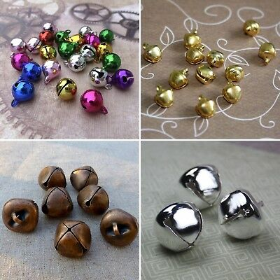 8,10,12 or 20mm, bronze silver gold copper jingle bells Charm Christmas Pendant