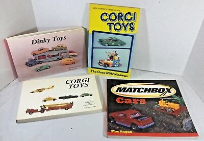 CORGI TOYS DINKY MATCHBOX PRICE GUIDE LOT 4 BOOKS cl