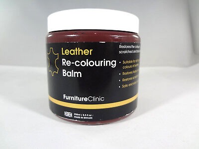 FurnitureClinic Leather Re-Colouring Balm - MAROON -8.5 oz [EH-F]