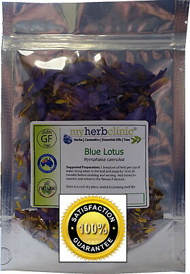 BLUE LOTUS HERBAL HERB HIGH TEA SMOKE ORGANIC CALMING RELAXING MELLOW PUFF 10g