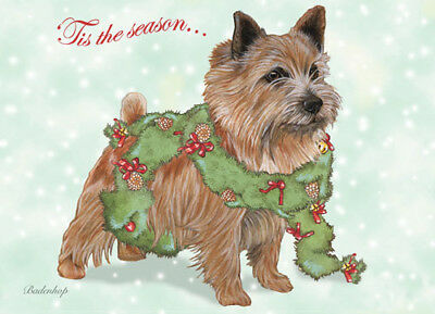 Norwich Terrier Christmas Cards Set of 10 cards & 10 envelopes