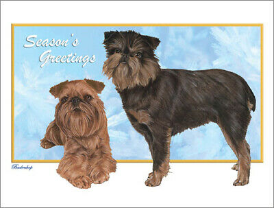 Brussels Griffon Christmas Cards Set of 10 cards & 10 envelopes