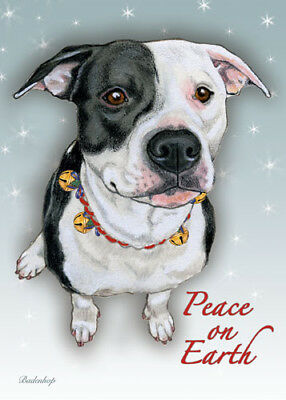 Pit Bull Christmas Cards Set of 10 cards & 10 envelopes