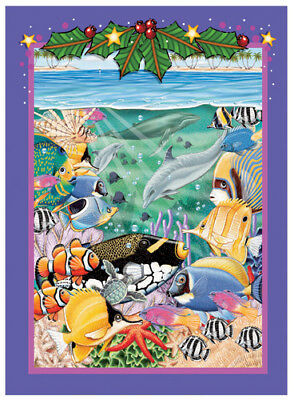 Tropical Fish Christmas Cards Set of 10 cards & 10 envelopes