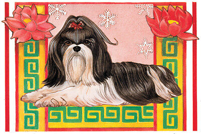 Shih Tzu Christmas Cards Set of 10 cards & 10 envelopes