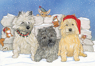 Cairn Terrier Christmas Cards Set of 10 cards & 10 envelopes