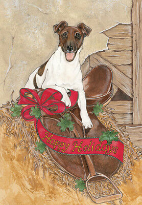 Fox Terrier Smooth Christmas Cards Set of 10 cards & 10 envelopes