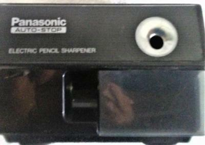 Vintage Panasonic KP-110 Auto-Stop Electric Pencil Sharpener Black Used Tested
