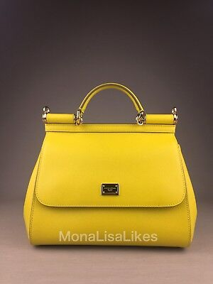 NEW DOLCE   GABBANA Miss Sicily Medium Sunny Yellow Bag Handbag Purse Tote 994c8e0ef8e02