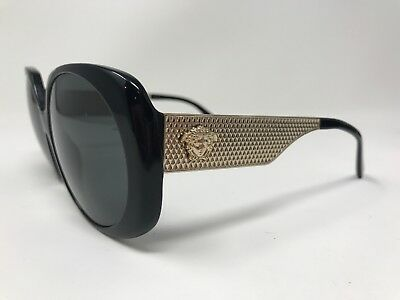 73e3a16b91f2 Versace MOD 4331 GB1 87 Round Black Gray Gold Gradient Sunglasses 57-16-