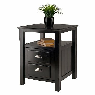 Winsome Timber Side Table, Black, 20 inches