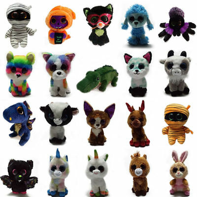 "6"" TY Beanie Boos Plush Animal Unicorn Doll Big Eyes Stuffed Kid Soft Toy Newly"