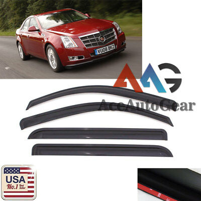 Vent Shade Window Visors Rain Guard Out-Channel 2.0mm Cadillac STS 05-11 4pcs