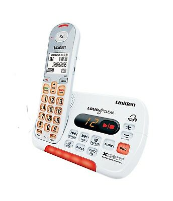 Uniden Sse35 White Visual & Hearing Impaired Cordless Digital Phone System
