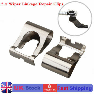 2x WINDSCREEN WIPER LINKAGE ARMS MOTOR POPPING OFF REPAIR CLIP For FIAT PUNTO UK
