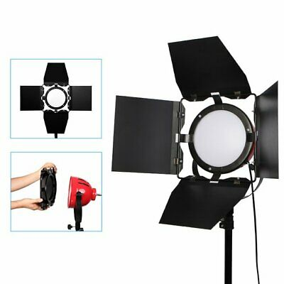 65W 5500K LED Red Head Dimmable Continuous Light Photo Studio Lamp w/ Barn Door