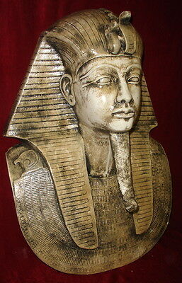 Large Ancient Egyptian Mask of King Tut Antique Finish Reproduction