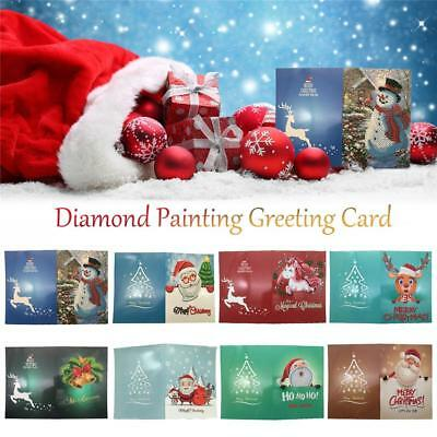 DIY 5D Diamond Painting Christmas Greeting Card Gift 8 types optional Best wish
