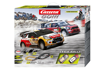 Carrera Go 1/43 Set Slot Car Set Let's Rally Car62433