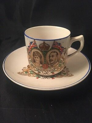 King George And Queen Mary Royal Cup And Saucer Silver Jubilee Memorabilia