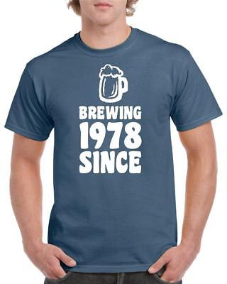 21st 30th 40th 50th 60th 70th 80th Funny Birthday T-Shirt Brewing Since Tee